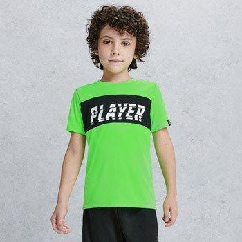 camiseta infantil esportiva verde neon youccie d0117