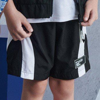 bermuda infantil esportiva preta masculino youccie