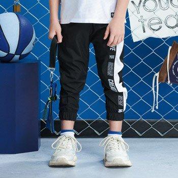 calca esportiva jogger preta infantil masculina d0077 corta vento