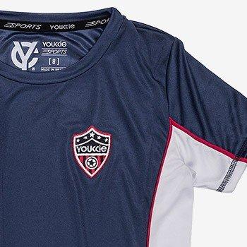 camiseta esportiva infantil marinho youccie d0219 detalhe