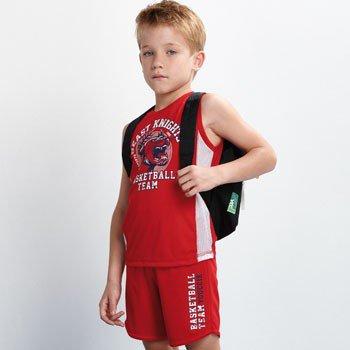 conjunto infantil esportivo vermelho beast d0222