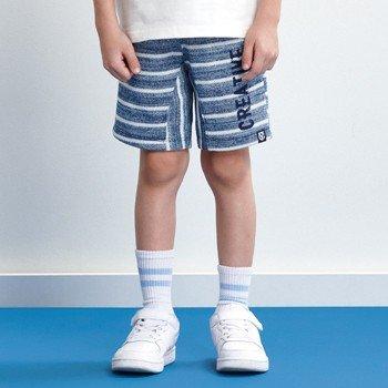 Bermuda Infantil de Moletom Masculino Listrada Azul d0199