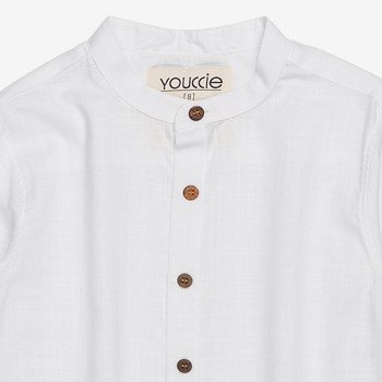 Camisa Branca Infantil Masculino Manga Longa D0048