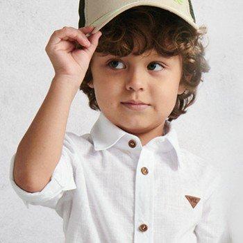 Camisa Infantil Social Branca de Manga Longa i0032