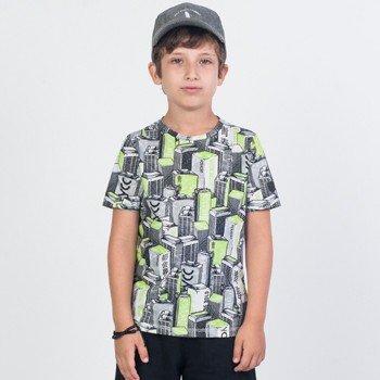 Camiseta Infantil Skyline Verde Neon Youccie D0035 detalhes