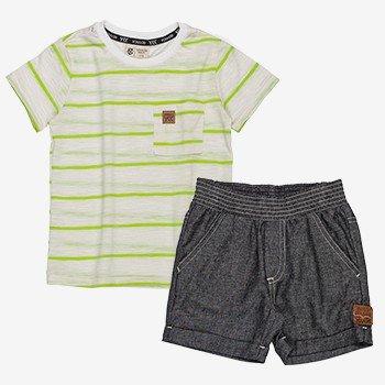 Conjunto Infantil Masculino Listrado Verde Neon i0222