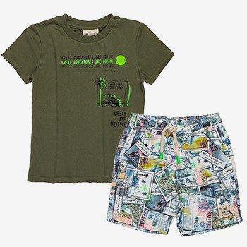 Conjunto Infantil Masculino Verde Militar Adventures I0168