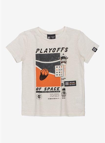 camiseta infantil of space masculina branca i0079 look