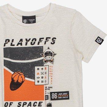 Camiseta Infantil Of Space Masculina Branca i0079 detalhe