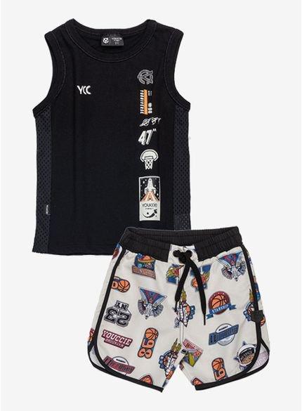 conjunto infantil masculino basquete i0225