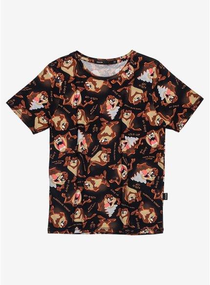 camiseta infantil taz mania looney tunes d0297 still