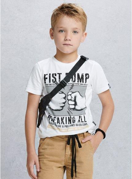 camiseta infantil masculina fist bump d0010 look