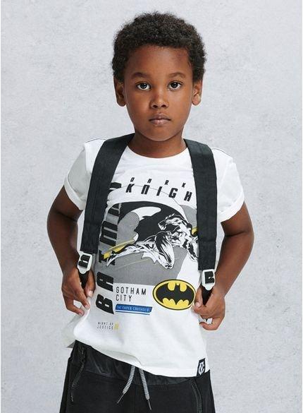 camiseta infantil batman branca d0202 look