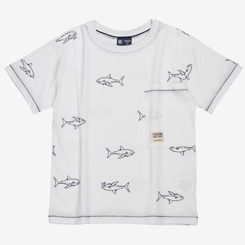 Camiseta Estampa Tubaro Infantil Branca D0181 detalhes