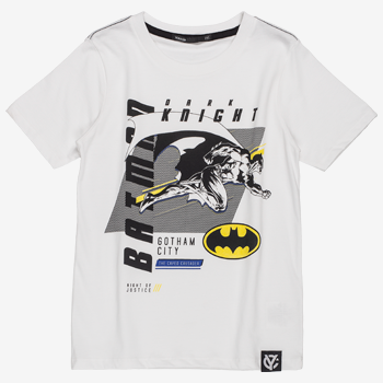 Camiseta Infantil Batman Branca