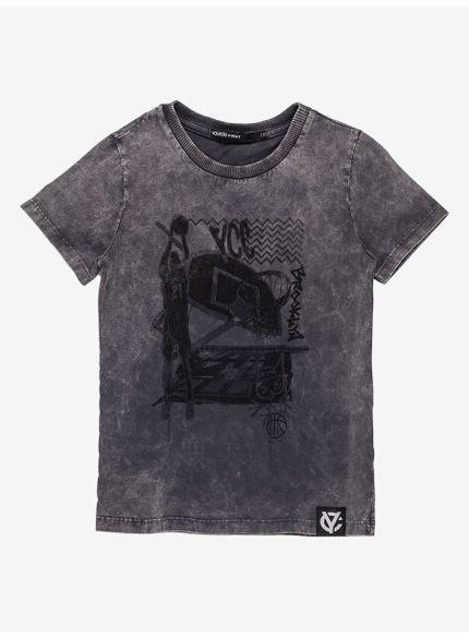 camiseta infantil masculina basquete cinza i0080 still