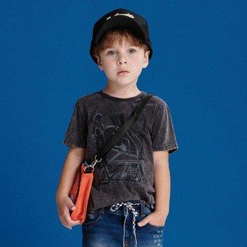 camiseta infantil masculina basquete cinza I0080 detalhes