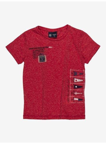 camiseta infantil masculina vermelha navy i0008