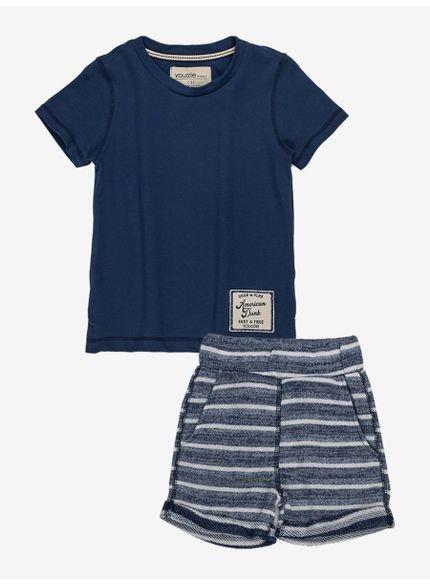 conjunto infantil masculino listrado azul i0229 completo
