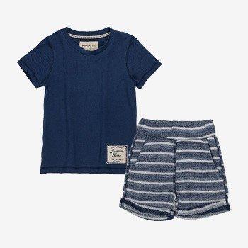 conjunto infantil masculino listrado azul I0229 detalhes