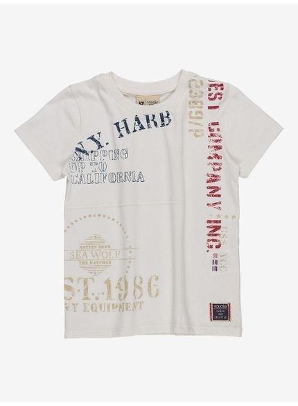 camiseta infantil masculina branca youccie i0088 still