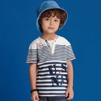 camiseta infantil masculina listrada navy i0084 detalhe