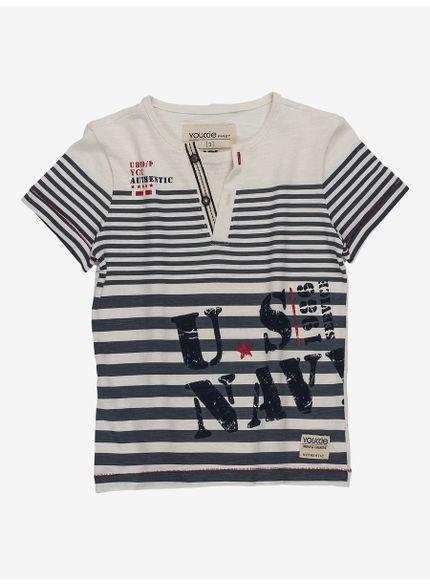 camiseta infantil masculina listrada navy i0084 still