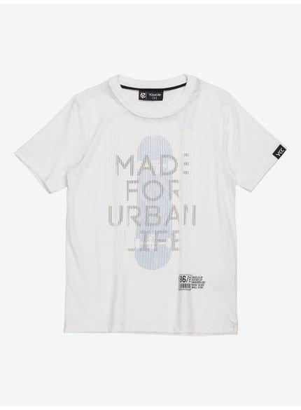 camiseta infantil masculina branca estampa skate youccie