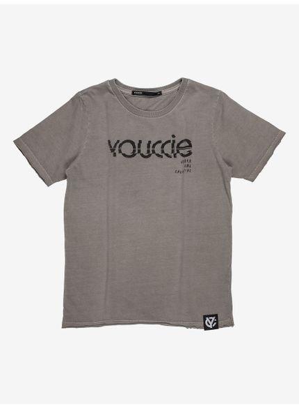 camiseta infantil masculina cinza youccie d0294 frente