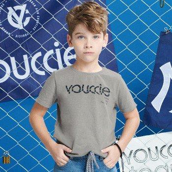 camiseta infantil masculina cinza youccie
