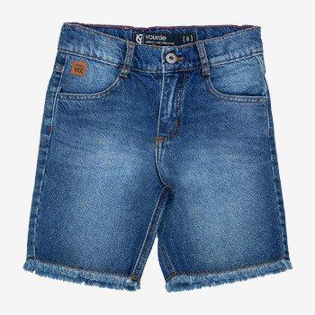 bermuda infantil jeans masculina youccie barra desfiada