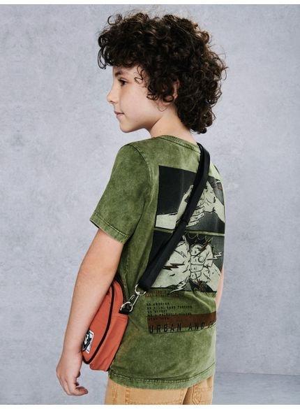 camiseta infantil masculina verde militar youccie