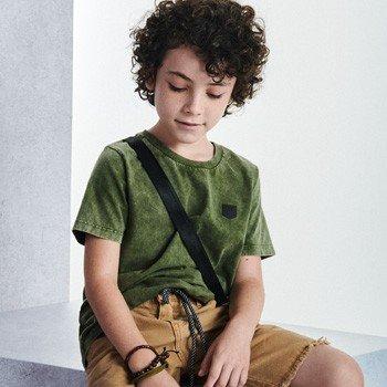 camiseta infantil masculina verde militar youccie detalhes