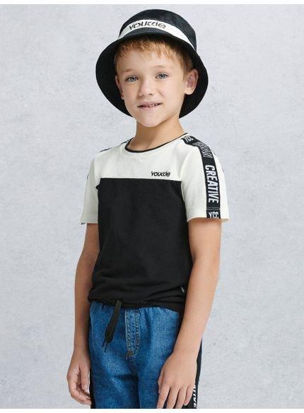 camiseta infantil masculina creative bicolor youccie