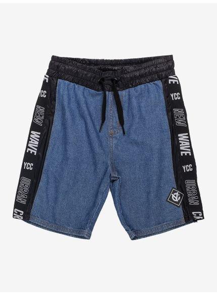 bermuda jeans infantil masculina com cadarco youccie d0204