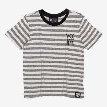 Camiseta Infantil Listrada Cinza Masculina