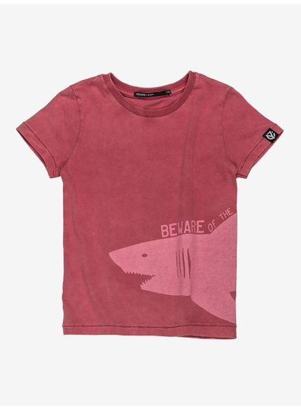 camiseta infantil masculina tubarao vermelha youccie