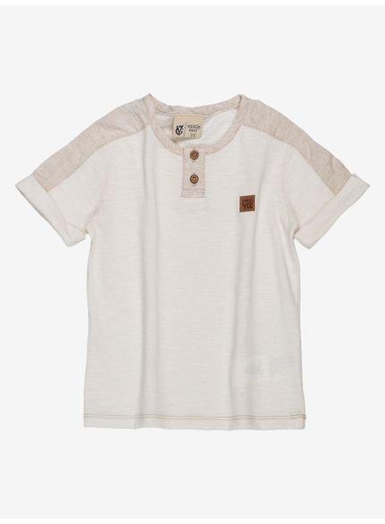 camisa infantil masculina malha flame bege youccie