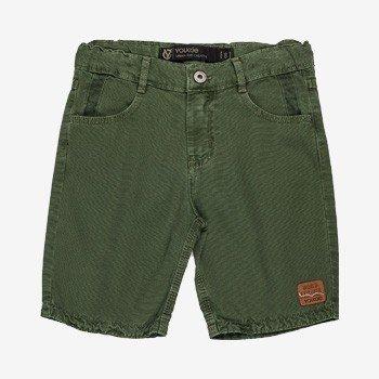 Bermuda Infantil Masculina de Sarja Verde Militar youccie