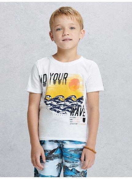camiseta infantil masculino waves branca youccie