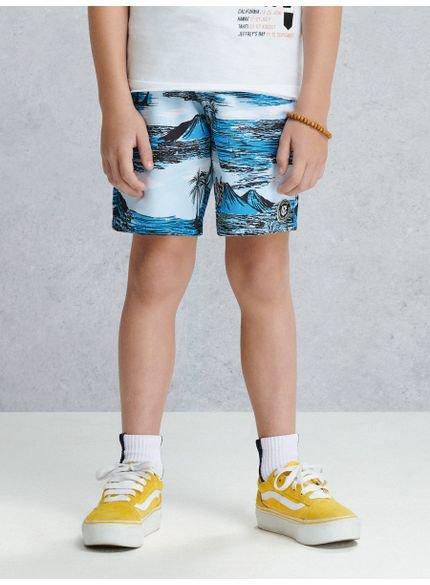 bermuda infantil masculina surf azul youccie