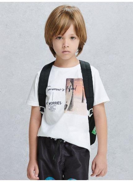 camiseta infantil masculina no worries branca youccie d0150