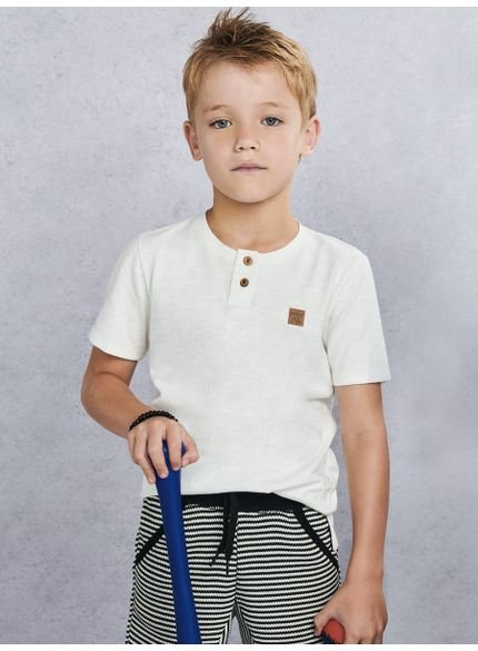 camiseta infantil masculina flame off white d0047