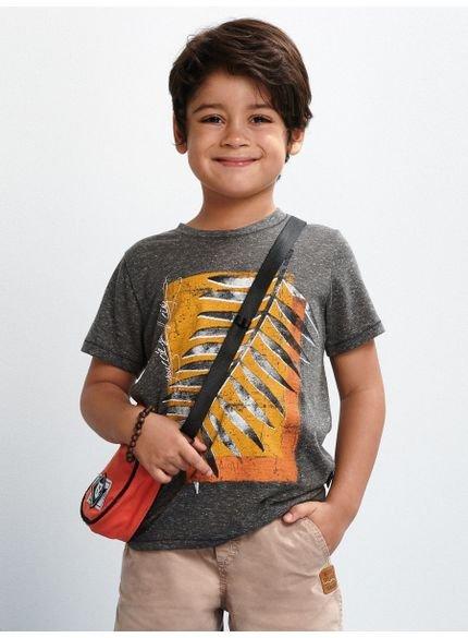 camiseta infantil masculino folhagem cinza d0145 youccie