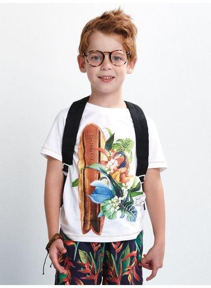 camiseta infantil masculino prancha branco youccie d0075