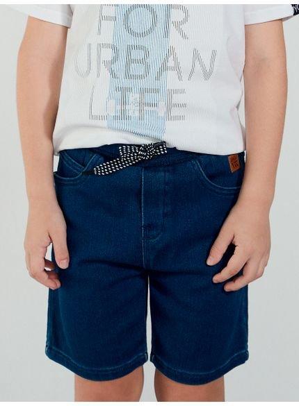 bermuda jeans infantil masculina com cadarco youccie d0207