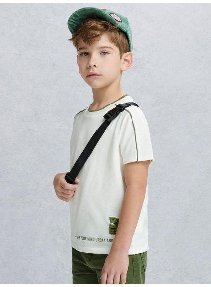 camiseta infantil masculina filete verde militar youccie d0149
