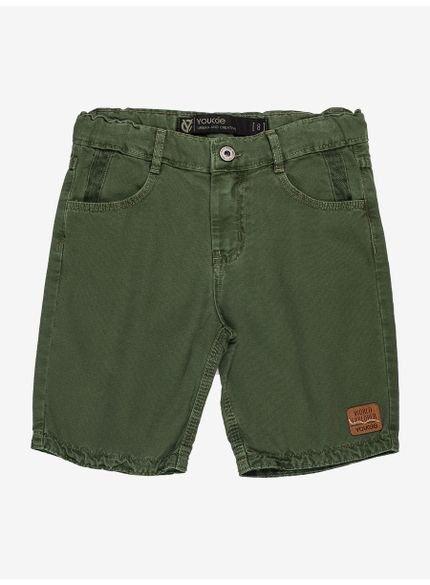 bermuda infantil masculina de sarja verde militar youccie d0205 still