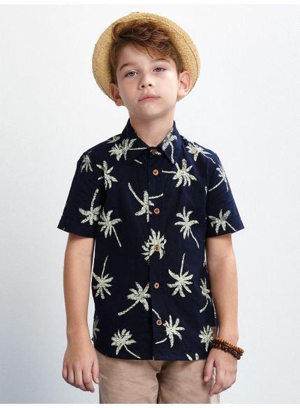 camisa infantil masculina coqueiro marinho youccie