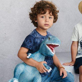 Camiseta Infantil Masculina Tie Dye Azul youccie